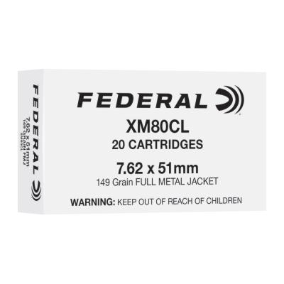 FEDERAL XM80CL 7.62X51MM 149GR FMJ